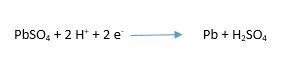 şarj anında negatif elektrot kimyasal formül