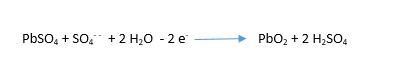 şarj anında pozitif elektrot kimyasal formül