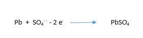 deşarj anında negatif elektrot kimyasal formül