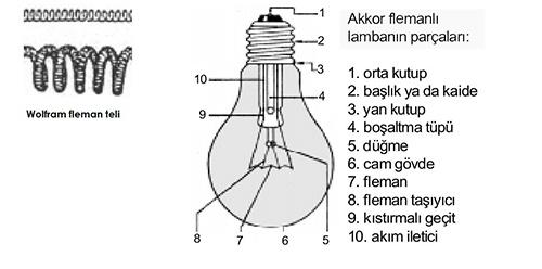 akkor lamba flemanı, akkor lambalar, akkor lamba yapısı