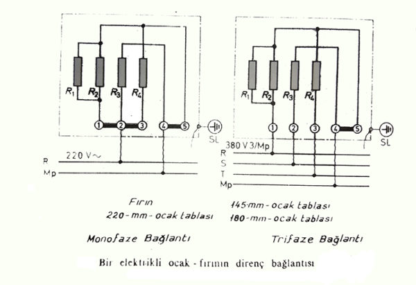 elektrikli ocak direnç bağlantısı