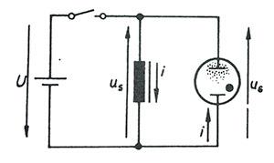 akım devresinin kesilmesi anında bir bobindeki özendüksiyon (öz indüksiyon) gerilimi