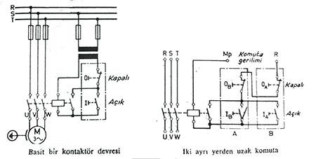 kontaktör devre şeması