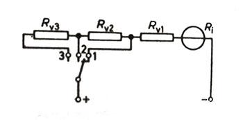 çok sahalı bir voltmetrenin şeması