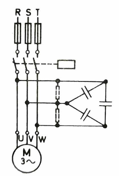 Bir trifaze motorun birey kompanzasyonu