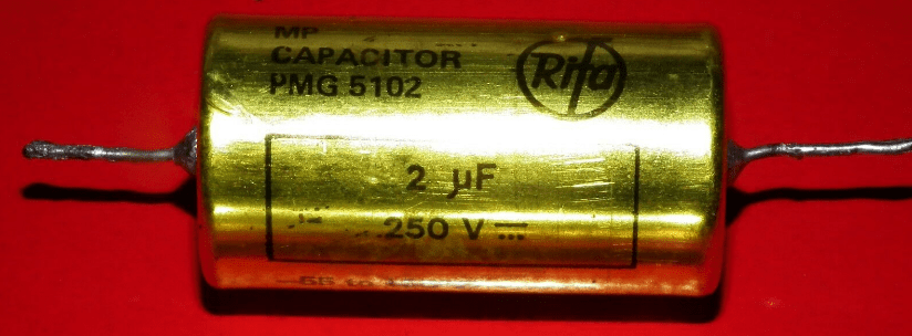 Metal - kağıt kondansatör (MP kondansatör)