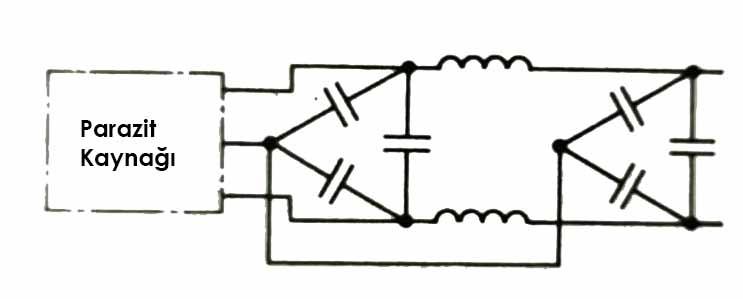 gelişkin bir filtreleme devresinin prensip şeması