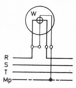 Dört hat iletkenli bir şebekede tek wattmetre ile güç ölçümü