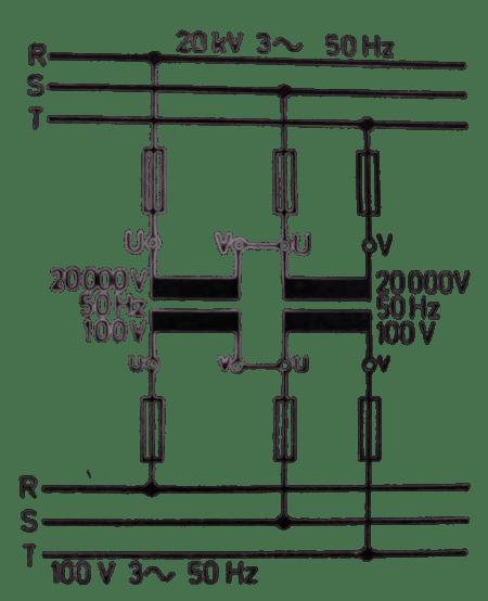 V devresi, tek fazlı trafoların üç fazlı akımda kullanılması